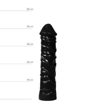 All Black Realistische XXL Dildo - 33 cm