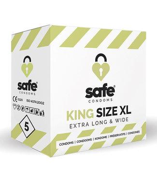 Safe SAFE - Condooms King Size XL Extra Long & Wide (5 stuks)
