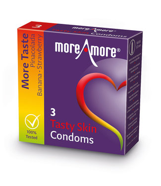 MoreAmore MoreAmore - Condoom Tasty Skin 3 st.
