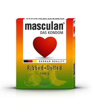 Masculan Masculan - Tutti Frutti & Aardbei & Groene Appel (3 pc) 16 st.