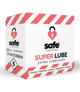 Safe SAFE - Condooms Super Lube Extra Glijmiddel (5 stuks)