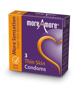 MoreAmore MoreAmore - Condoom Thin Skin 3 st.