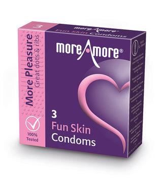 MoreAmore MoreAmore - Condoom Fun Skin 3 st.