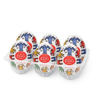 Tenga Tenga - Keith Haring Egg Dance (6 Stuks)