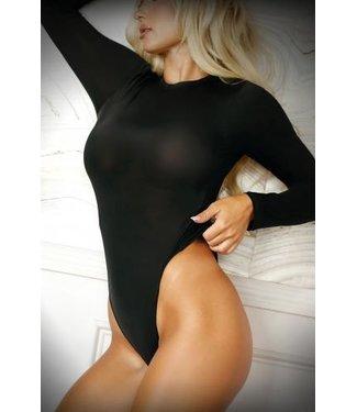 Vixen Up All Night Body Met Lange Mouwen - Zwart