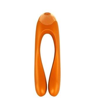 Satisfyer Satisfyer Candy Cane Vingervibrator - Oranje
