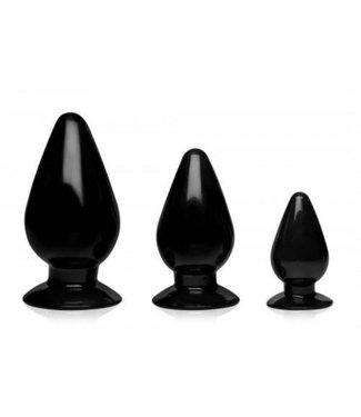 Master Series Triple Cones Anaalplug Set Van 3