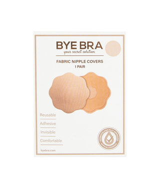 Bye Bra Bye Bra - Stoffen Tepel Covers Lichte Huidskleur 1 Paar