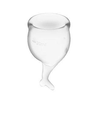 Satisfyer Satisfyer - Feel Secure Menstruatie Cup Set Transparant