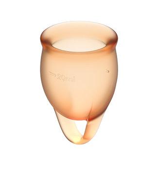 Satisfyer Satisfyer - Feel Confident Menstruatie Cup Set Oranje