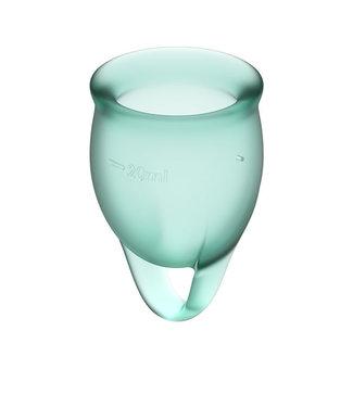 Satisfyer Satisfyer - Feel Confident Menstruatie Cup Set Donkergroen