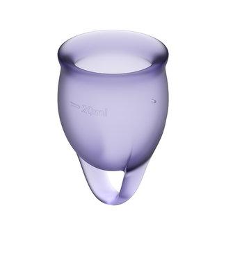 Satisfyer Satisfyer - Feel Confident Menstruatie Cup Set Lila