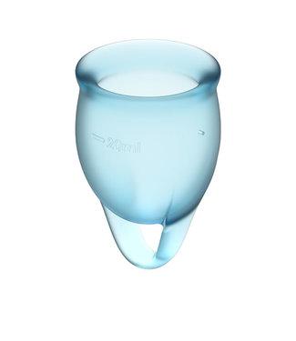 Satisfyer Satisfyer - Feel Confident Menstruatie Cup Set Lichtblauw
