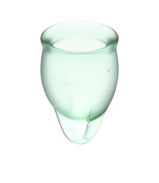 Satisfyer Satisfyer - Feel Confident Menstruatie Cup Set Lichtgroen