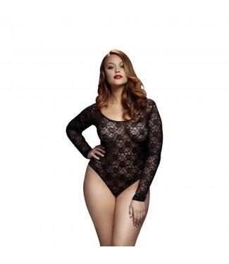 Baci Lingerie Baci - Kanten Bodysuit Met Open Achterkant - Curvy