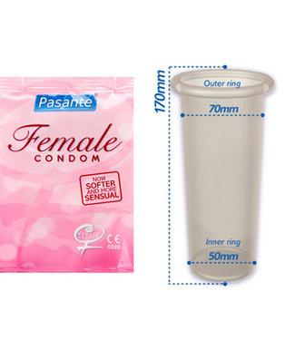 Pasante Pasante Vrouwen Condoom - 3 stuks