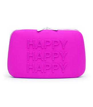 Happy Rabbit Happy Rabbit - HAPPY Opbergtas met Rits Groot Paars