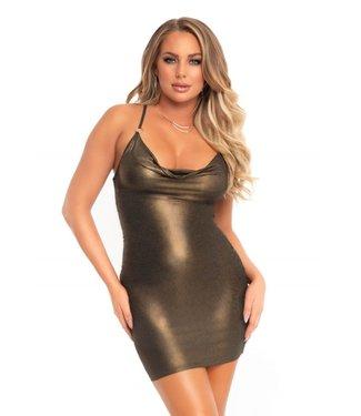 Leg Avenue Shimmer slinky low cowl dress