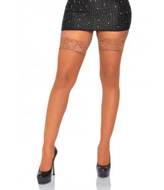Leg Avenue Micro Net, Lace Top Stay Ups O/S