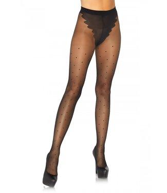 Leg Avenue French cut polka dot pantyhose O/S