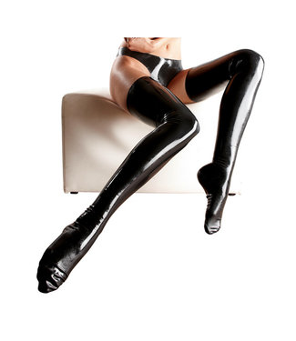 Leg Avenue Latex Stockings - Black