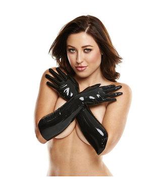 LatexWear Long Latex Gloves - Black