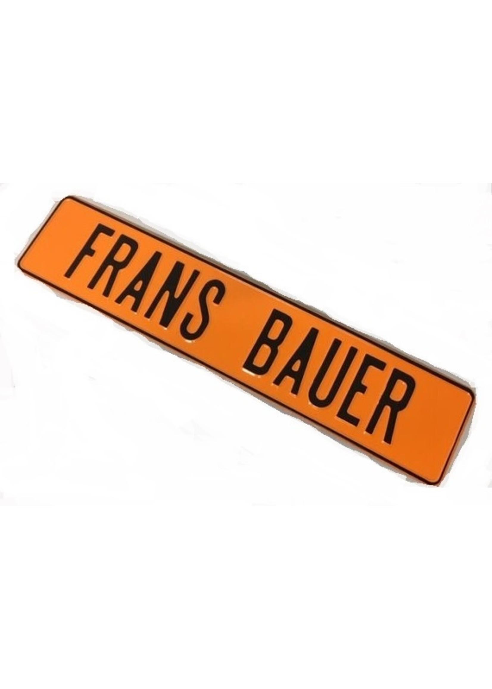 Oranje kentekenplaat met naam of tekst