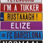 Kentekenplaten met naam