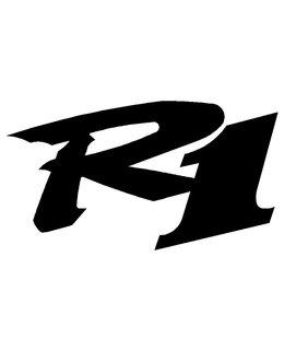 R1 logo sticker