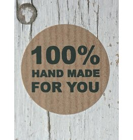Ronde craft sticker 100% Hand Made, 10st