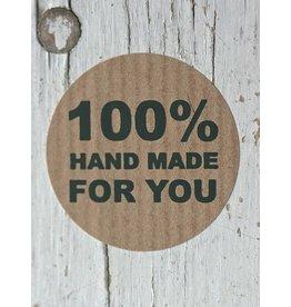 Ronde craft sticker 100% Hand Made, 10st