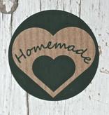 Ronde craft sticker Homemade, 10st