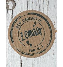 Ronde craft sticker Een cadeautje, 10st