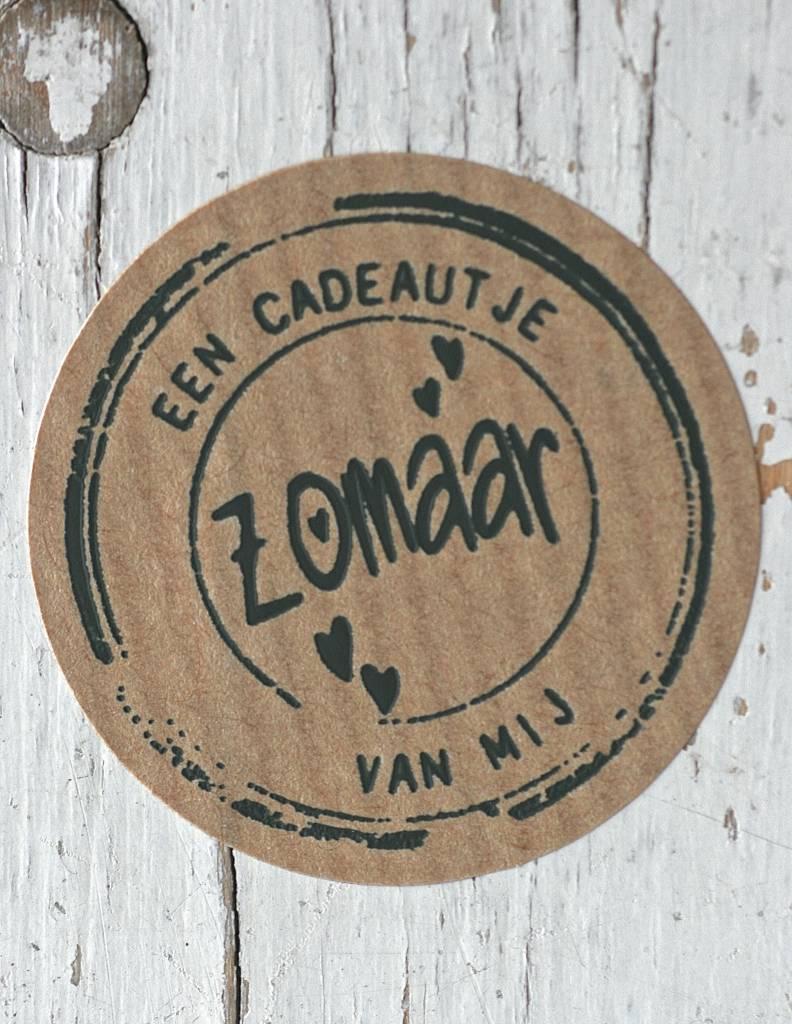 Ronde craft sticker Een cadeautje van mij, 10st