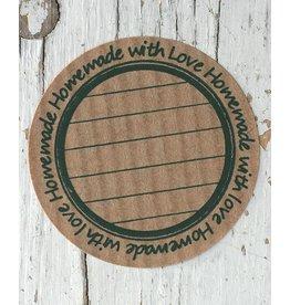 Ronde craft sticker Homemade (2), 10st