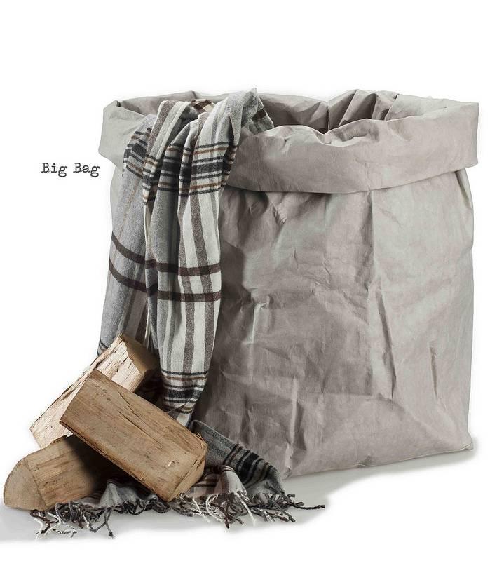 Uashmama Paper bag Big Bag grijs