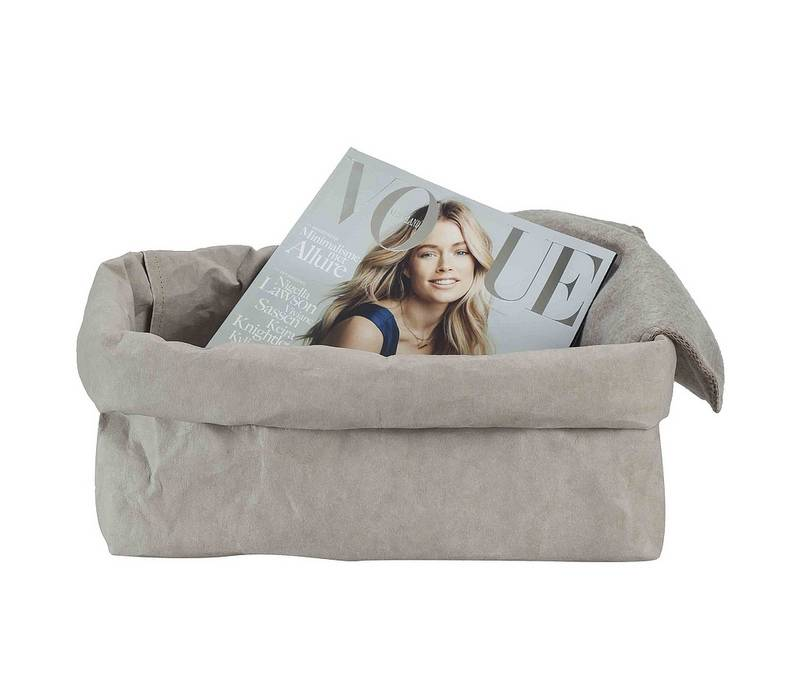 Uashmama Paper Magazine Bag grijs