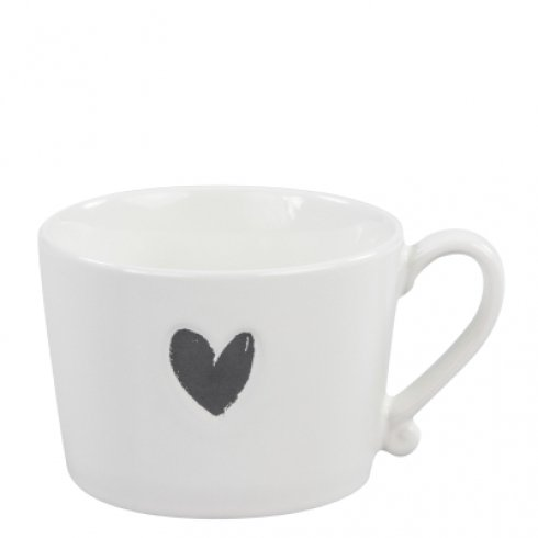 Bastion Collections Mug White/Heart in Black