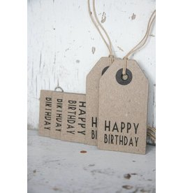 East of India Label karton Happy Birthday