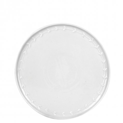 Breakfast Plate White with little hearts