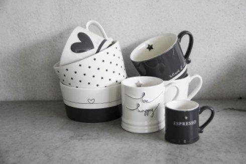 Bastion Collections Espresse Black with Espresso in White
