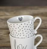 Mug White/Little dots in Grey