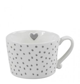 Mug White/Little dots in Grey
