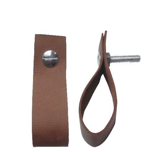 Leather Handle Cognac 9x3cm