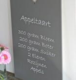 Houten tekstbord recept Appeltaart