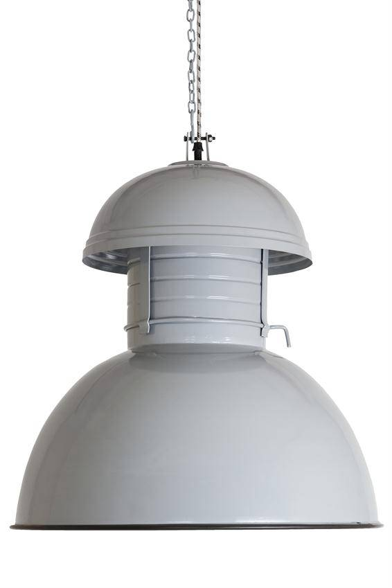 HKliving Industriële warehouse lamp M grijs