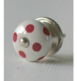 Harveys Knop bol, polka rood