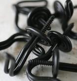 Harveys Draadhaakje zwart, 4,0cm