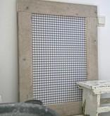 Prikbord steigerhout klein (S) 60x80cm, grijs