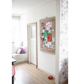 Prikbord steigerhout groot (L) roze